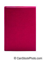 leer, rosa, gebundenes buch, freigestellt, weiß, hintergrund, mit, kopieren platz