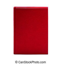leer, rotes , gebundenes buch, freigestellt, weiß, hintergrund, mit, kopieren platz