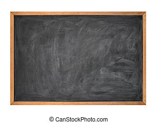 leer, schwarz, schule, kreide ausschuß, auf, w