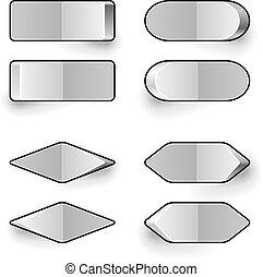 leer, weißes, kippschalter, vektor, template.