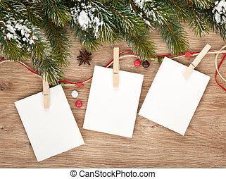 leer, weihnachten, aufnahme rahmt