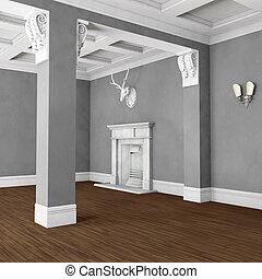 inneneinrichtung kaminofen klassisch wohnzimmer bertragung sessel klassisch elegant. Black Bedroom Furniture Sets. Home Design Ideas