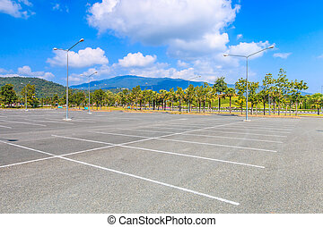 leerer , parkplatz