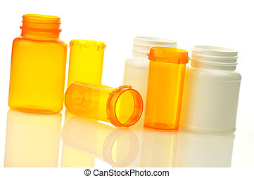 leerer , pille- flaschen