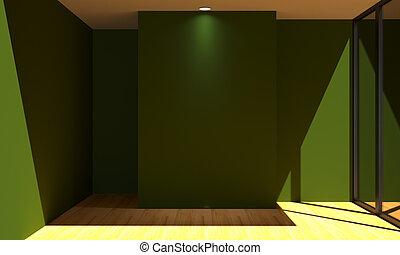 zimmer farbe renovieren wand gr n leerer zimmer clipart suche illustrationen. Black Bedroom Furniture Sets. Home Design Ideas