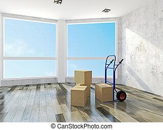 Zimmer farbe renovieren wand gr n leerer zimmer for Leeres zimmer