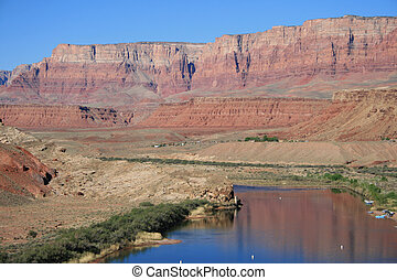 Lees Ferry, Arizona - Lees Ferry on the Colorado River in...
