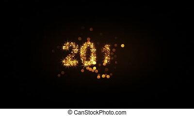 leest, groet, 5s, vuurwerk, jaar, nieuw, 2017, lus