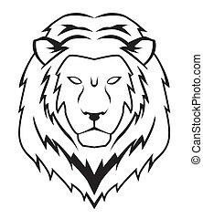 leeuw, gezicht