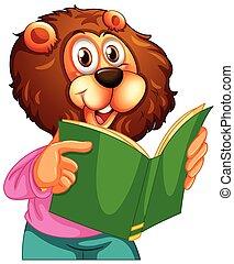 leeuw, het boek van de lezing