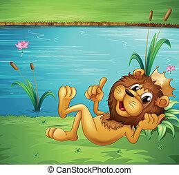 leeuw, kroon