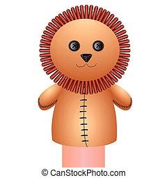 leeuw, marionet, vrijstaand