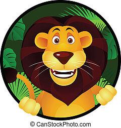 leeuw, spotprent