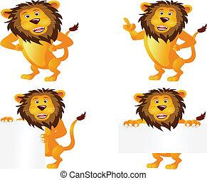 leeuw, spotprent, verzameling