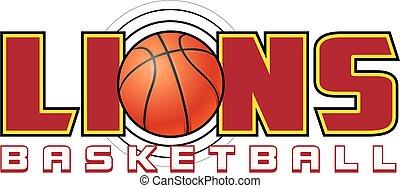 leeuwen, basketbal, ontwerp