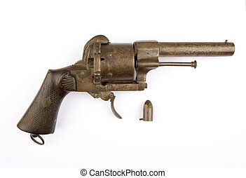 A Lefaucheux type pinfire revolver with 12 mm cartridge