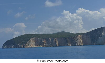 Lefkada Island Seen from Sea - The Greek Lefkada Island in...