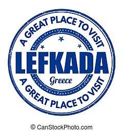 Lefkada sign or stamp