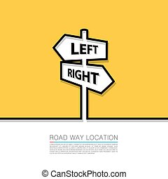 Left and right arrow sign. Vector illustration
