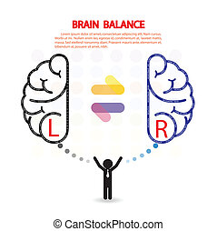 left and right brain symbol,creativity sign,business...
