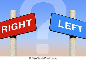 Left and right signs