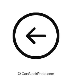 Left arrow, Back button vector icon in modern design style for web site and mobile app