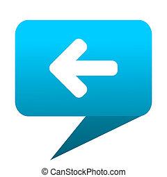 Left arrow blue bubble icon