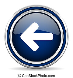 left arrow blue glossy web icon