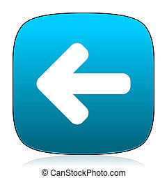 left arrow blue icon