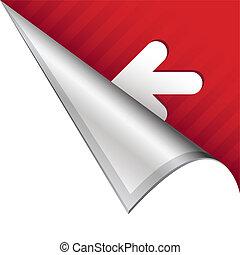 Left arrow corner tab