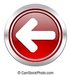 left arrow icon, arrow sign