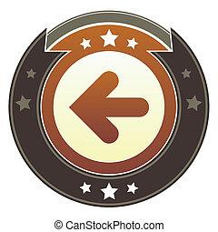 Left arrow imperial button