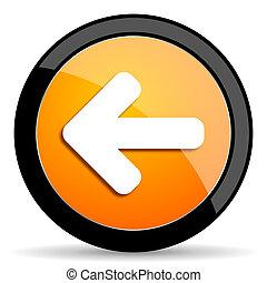 left arrow orange icon