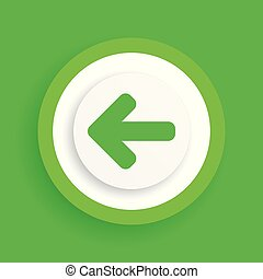 left arrow vector green icon