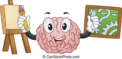 Left Brained Right Brained - Mascot Illustration ...