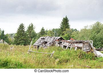 Left broken building - left broken building