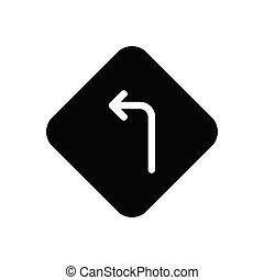 left  glyph flat icon