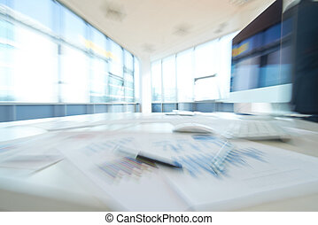Left office - Blurred image of empty office