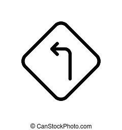 left  thin line icon