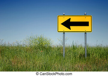 "left turn only - ""left turn only"" sign at the end of a road,..."