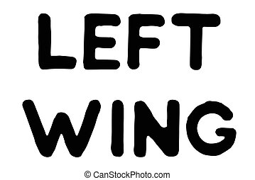 Left Wing typographic stamp. Typographic sign, badge or...