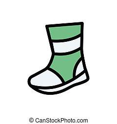 leg flat color icon