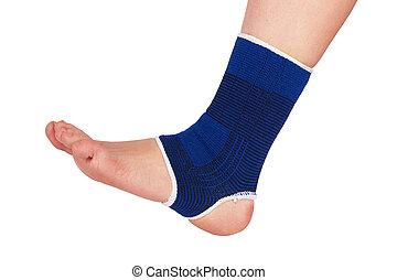 Leg in a bandage