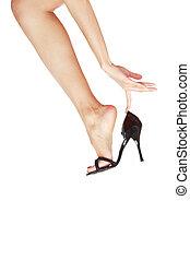 Leg in shoe