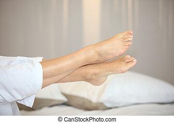 Leg of a woman