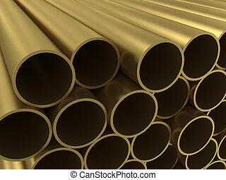 lega, tubazione, non-ferrous, gruppo