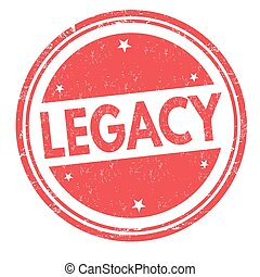 Legacy sign or stamp on white background, vector ...