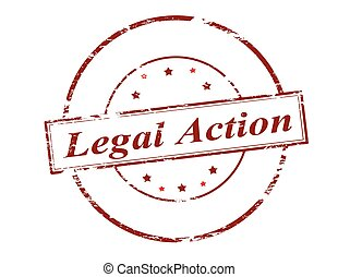 Legal action - Rubber stamp with text legal action inside, ...