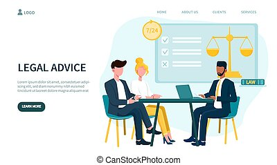 Legal advice concept and business men in meeting