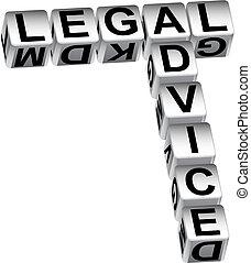 Legal Advice Dice - Legal advice dice isolated on a white...